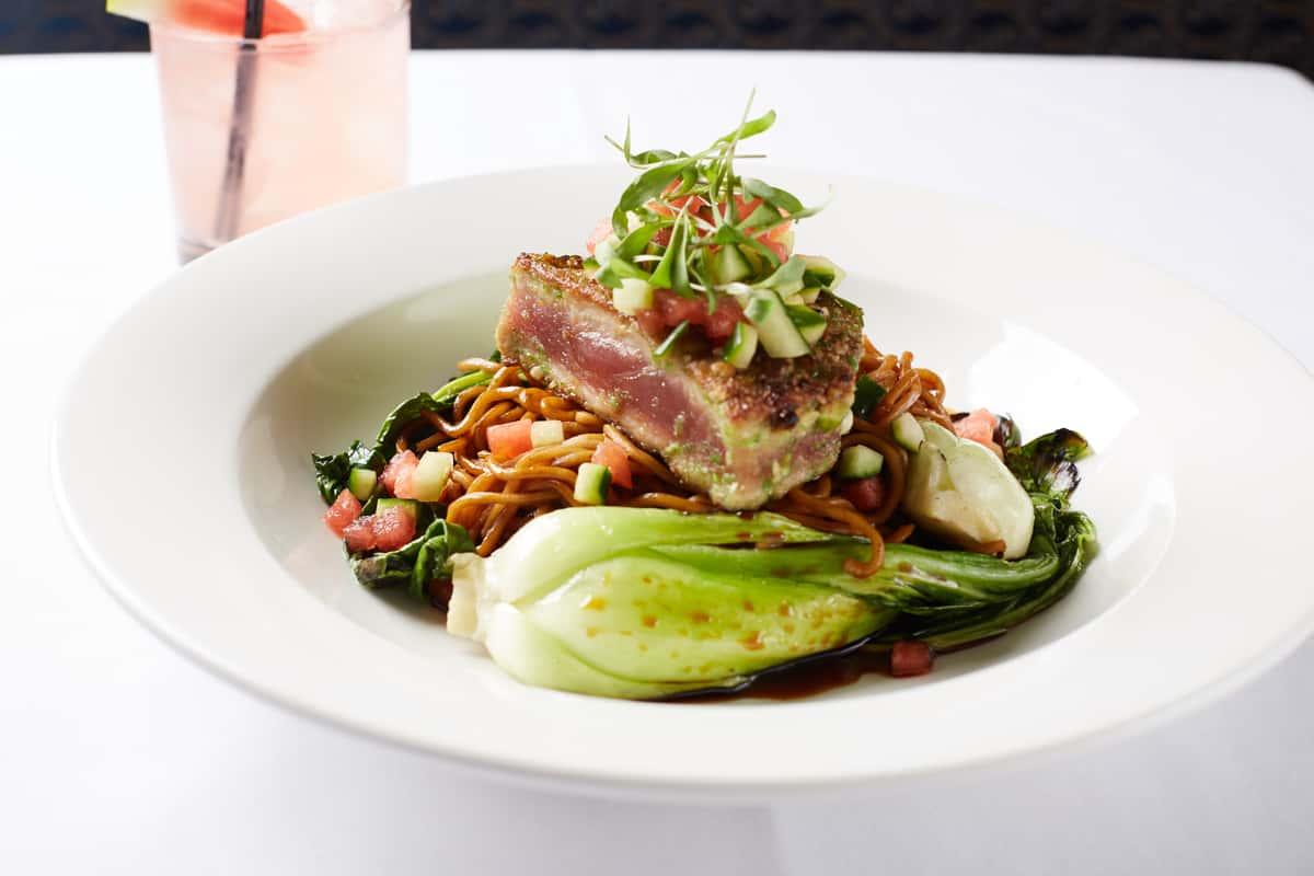 Seared Wasabi Pea Crusted Tuna