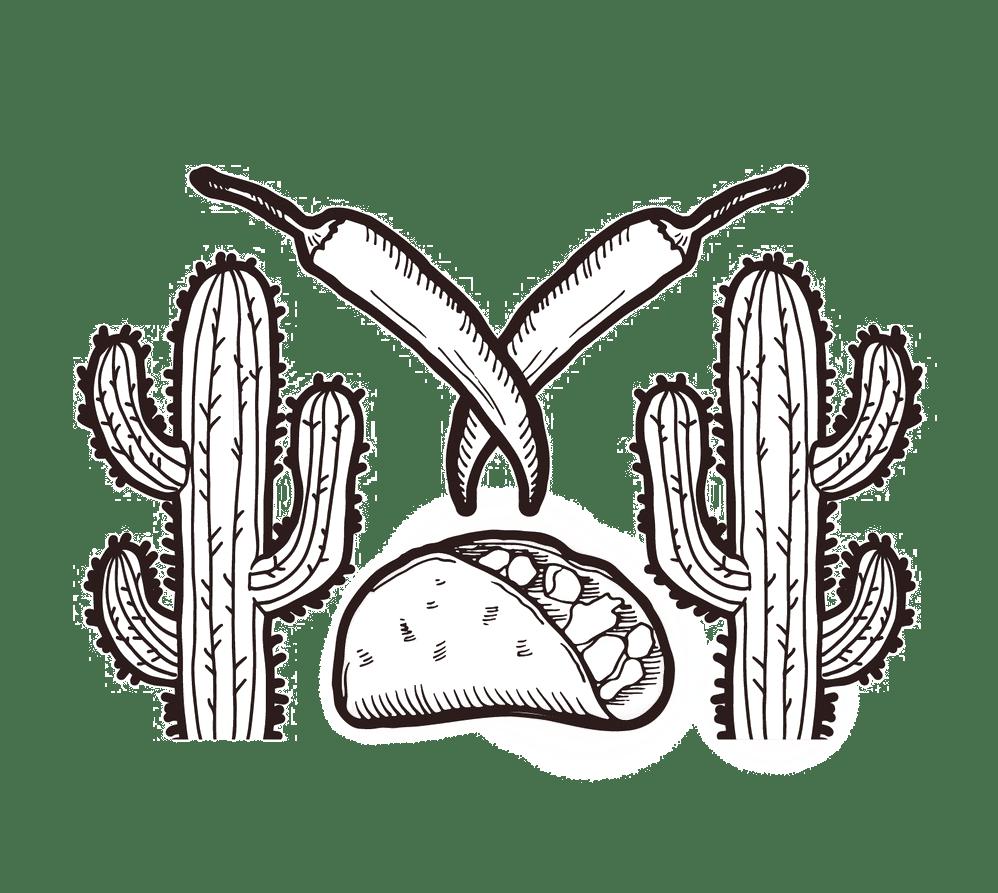 taco and cactus illustration