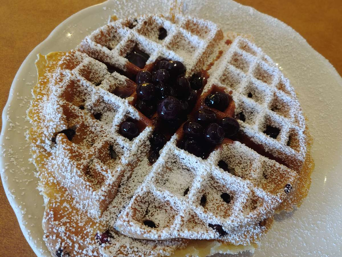 Blueberry Waffle (660 cal)