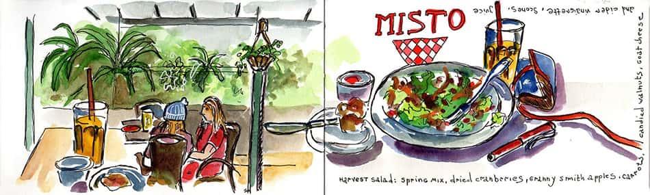 illustrations of Misto caffe
