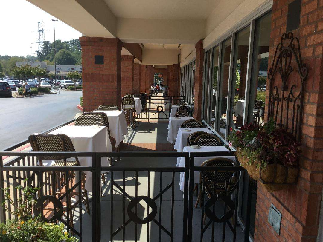 outdoor seating as well!