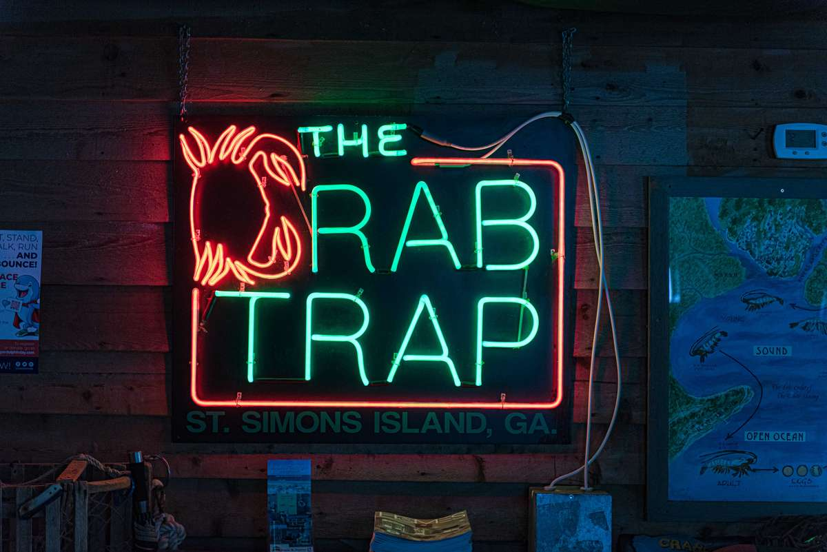 The Crab Trap Sign
