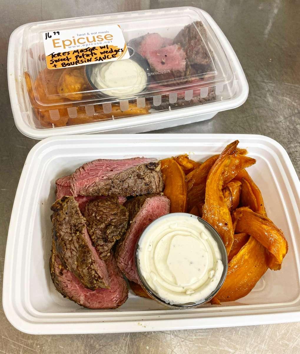 Teres Major Steak (8 oz) with Sweet Potato Wedges