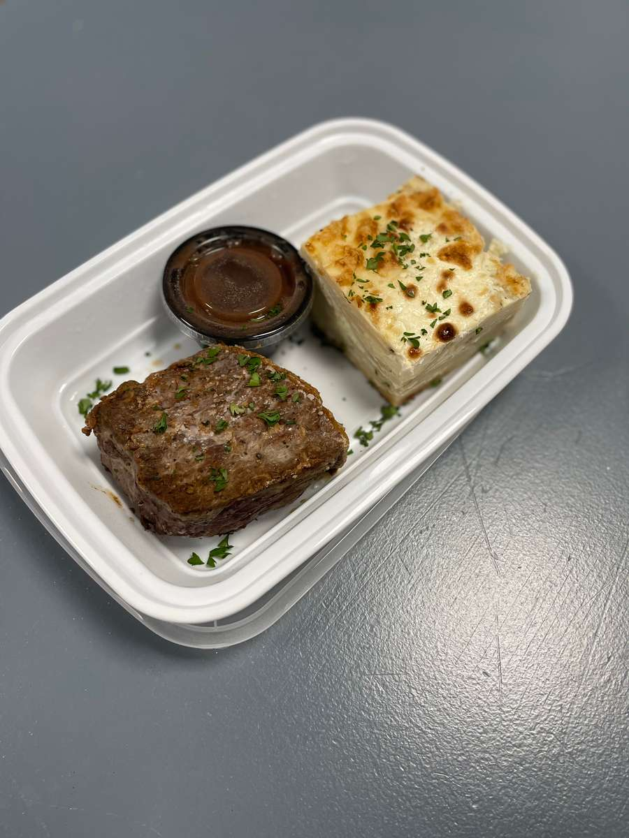 Angus Block Steak with choice of sides