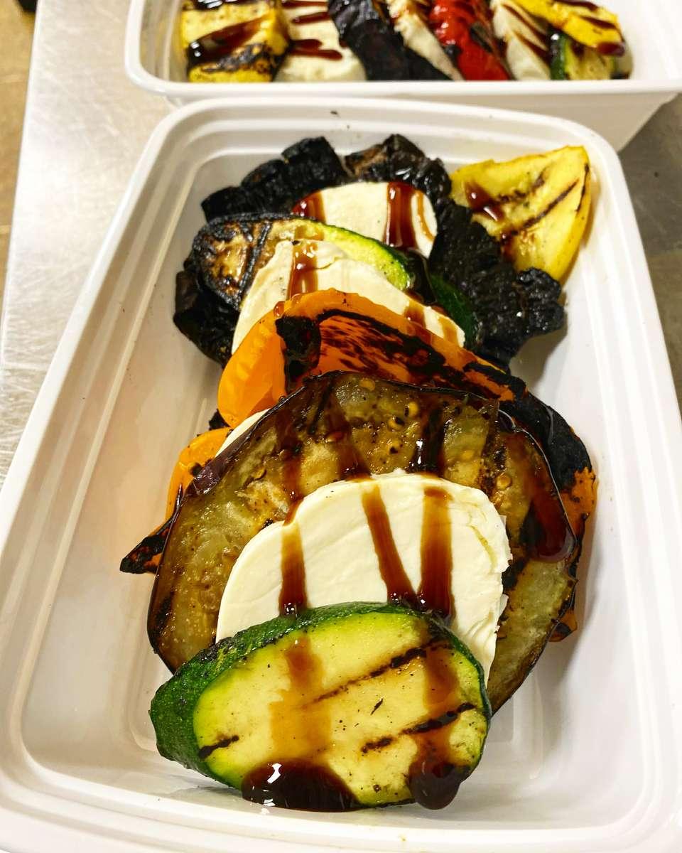 Grilled Vegetable Napolean