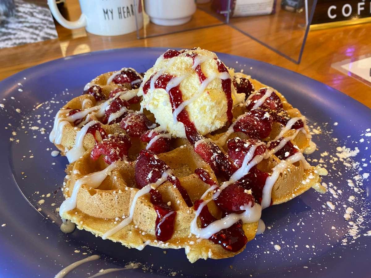 Raspberry Cheesecake Waffle