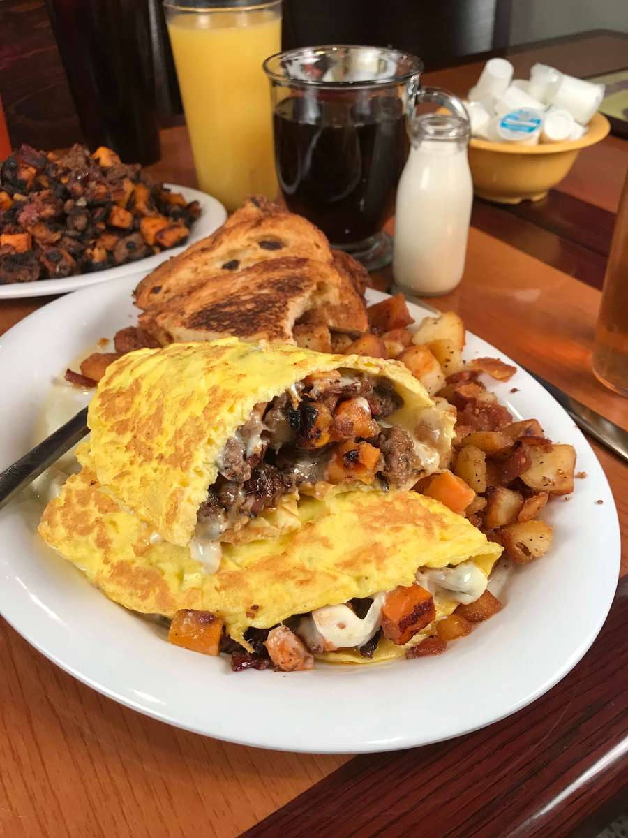 Dave's Sweet Potato Hash Omelet