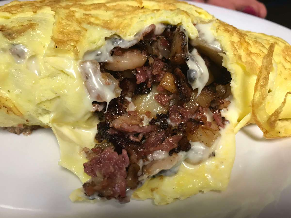 Dave's Corned Beef Hash Omelet