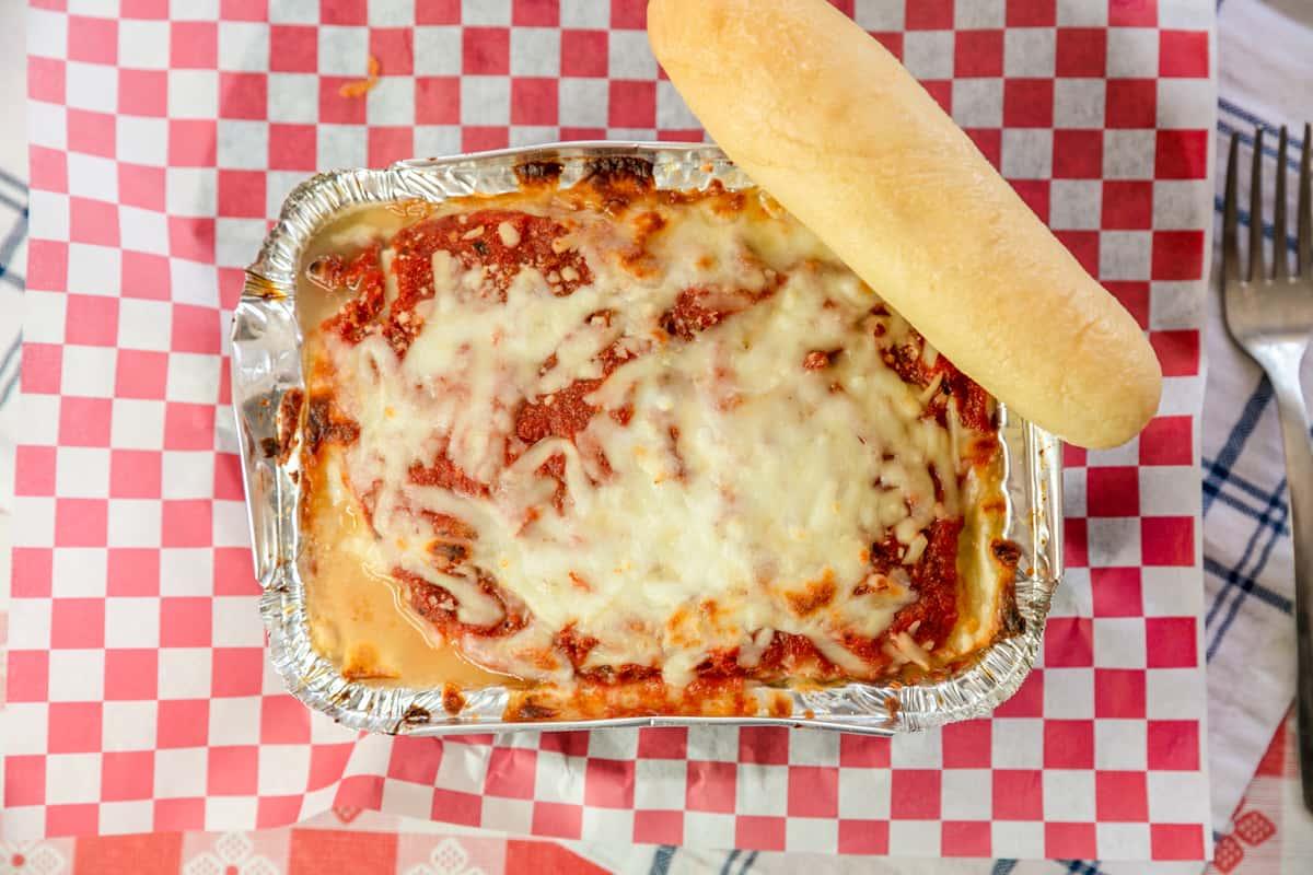 Homemade Lasagna Dinner