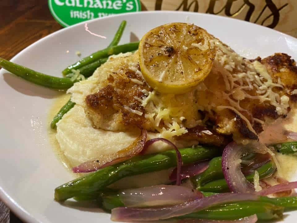 Dubliner Irish Cheese Crusted Cod