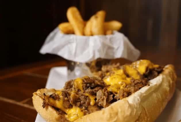 Drunken Cheesesteak with Steak Fries