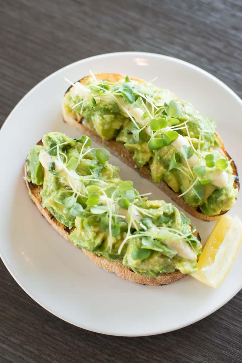 Vegan Lemony Avocado Toast