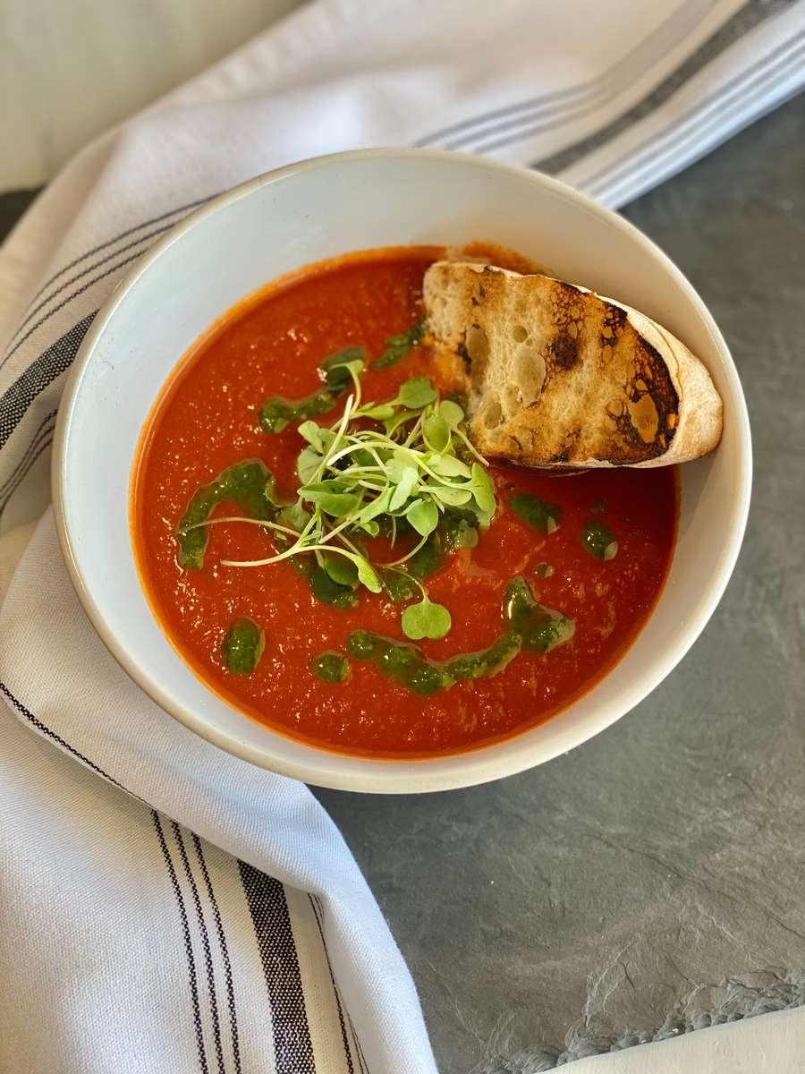Heirloom Tomato Basil Soup