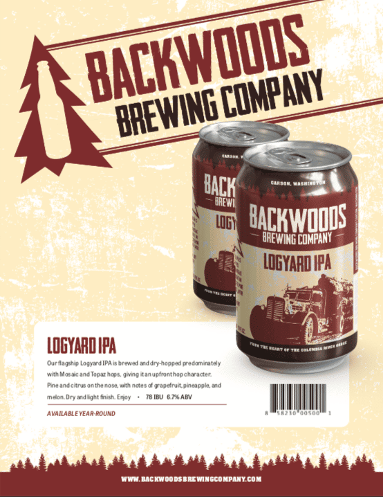 cans of logyard ipa - click to download PDF
