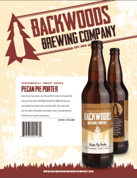 bottles - pecan pie porter - click to download PDF