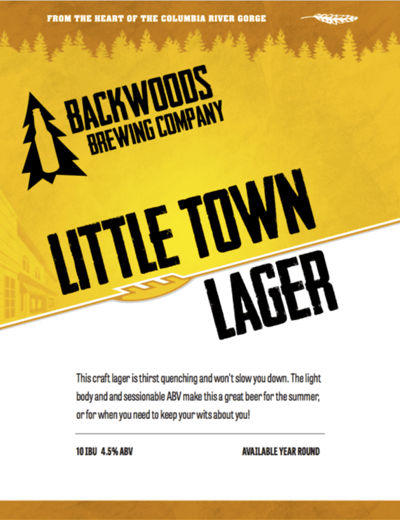 little town lager - click to download PDF