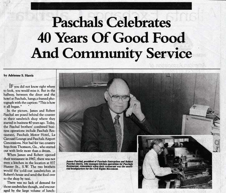 Paschals Celebrates 40 Years of Good Food & Community Services