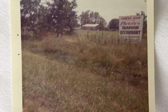 Old polaroid of Westheimer location before construction