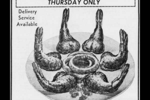 1960s ad clipping for Shrimp