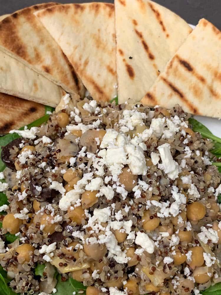 Mediterranean Quinoa Bowl (available vegan)
