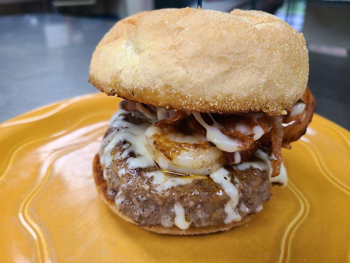 Cajun Beef & Reef Burger