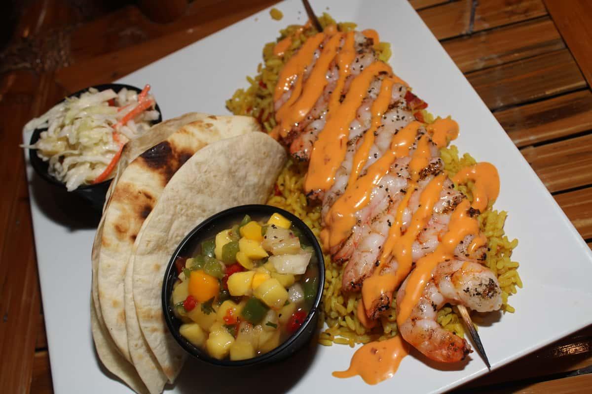 Jack's Caribbean Tacos   Shrimp