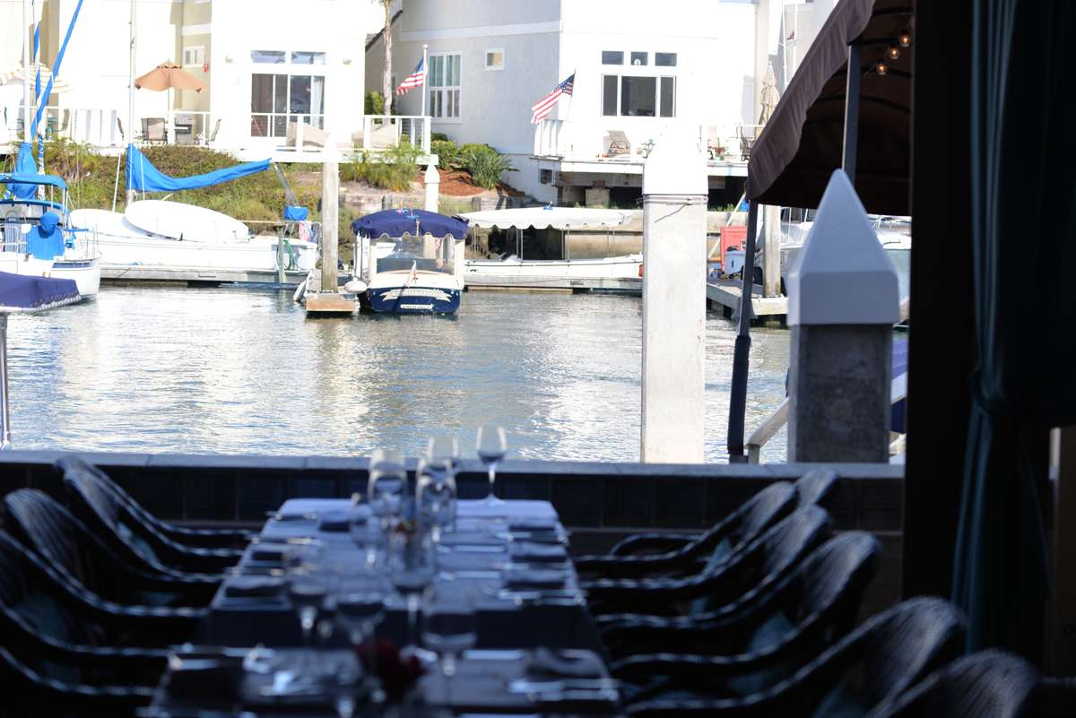 table by the water