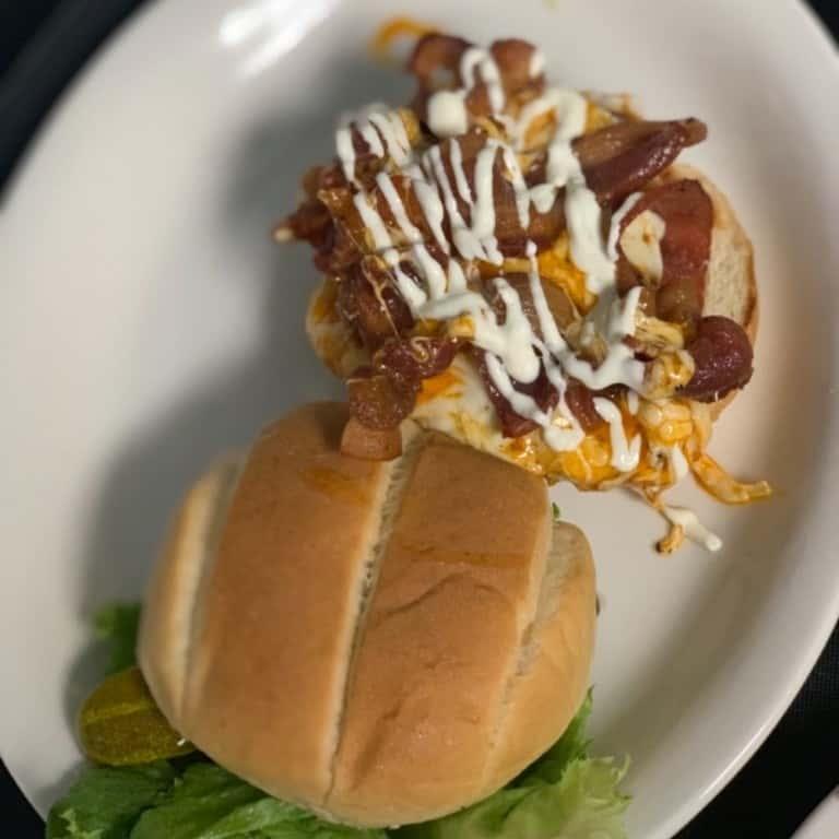 Buffalo Chicken Bacon Ranch Sandwich
