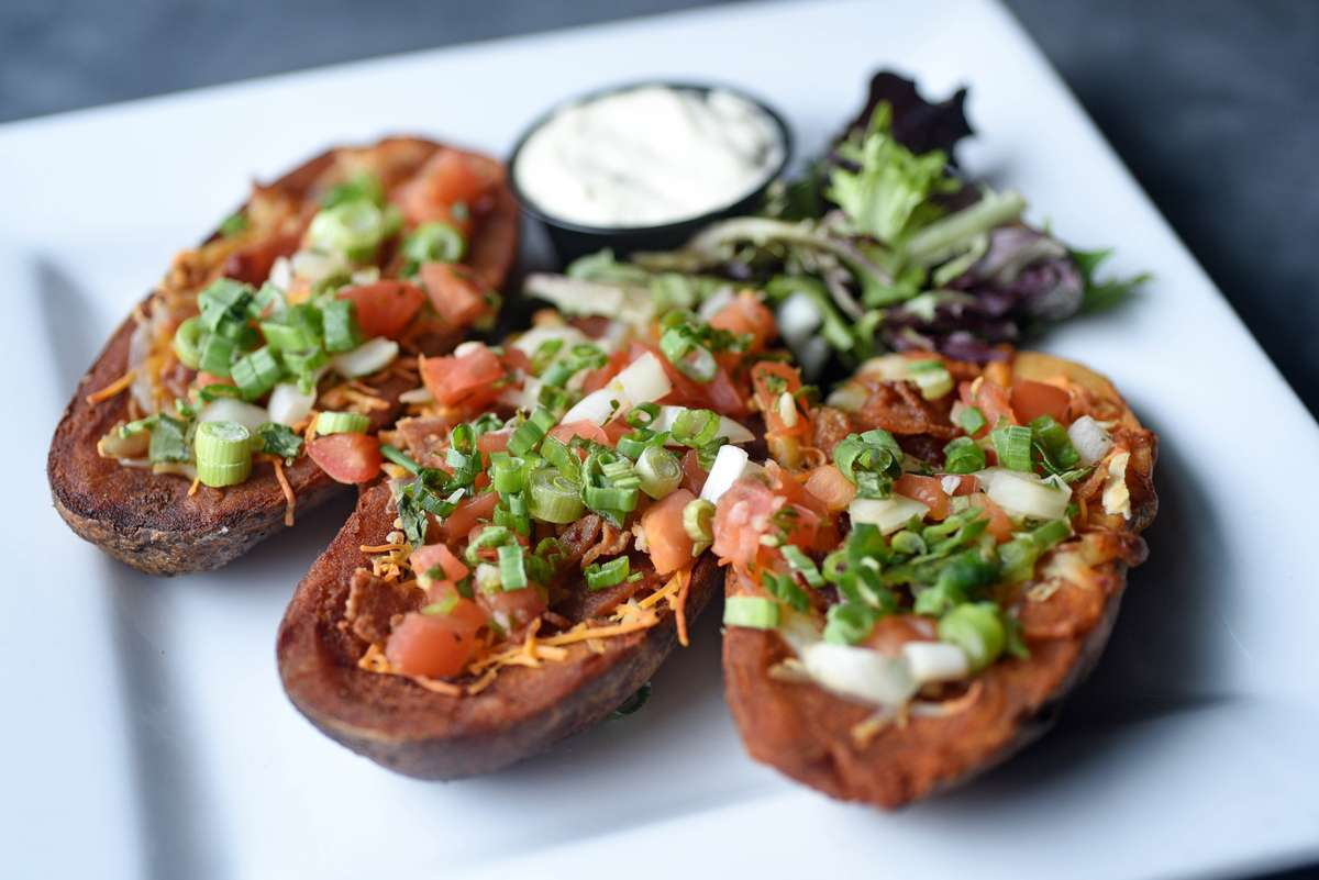 Hand Scooped Potato Skins