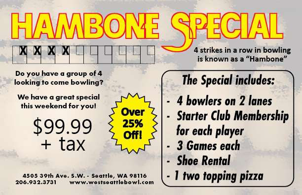 Join us for the Hambone Special