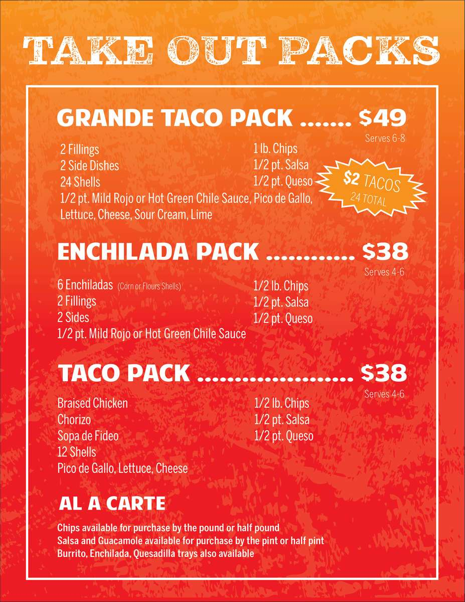 take out packs