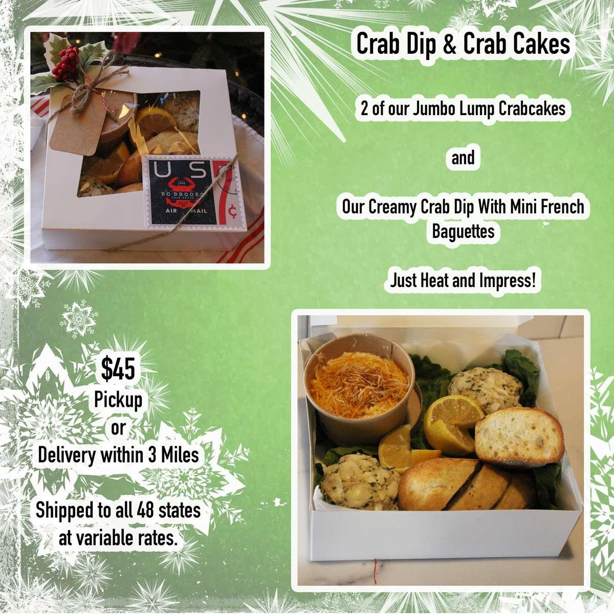 Crab Dip and Crab Cakes