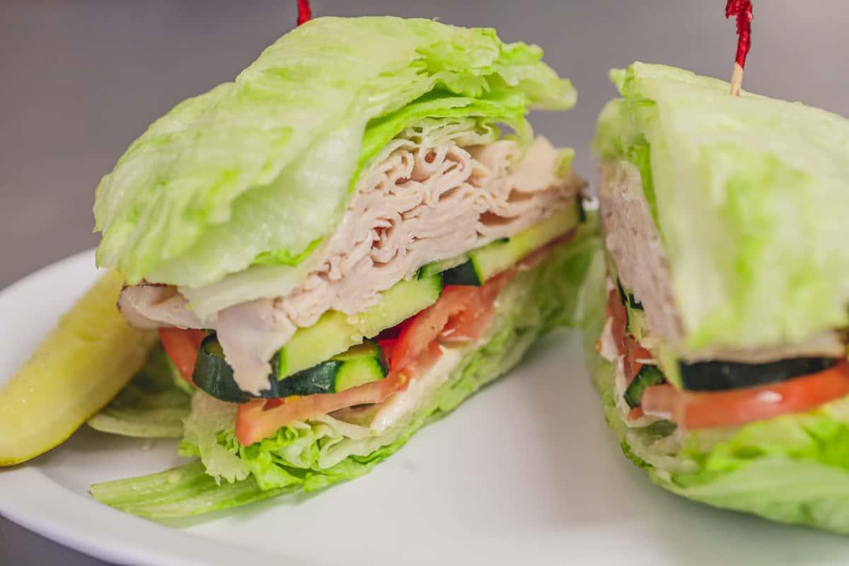 lettuce wrap sandwich