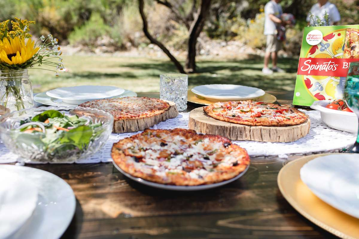 pizzas on the table