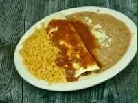 2. Mini Burrito, Rice & Beans
