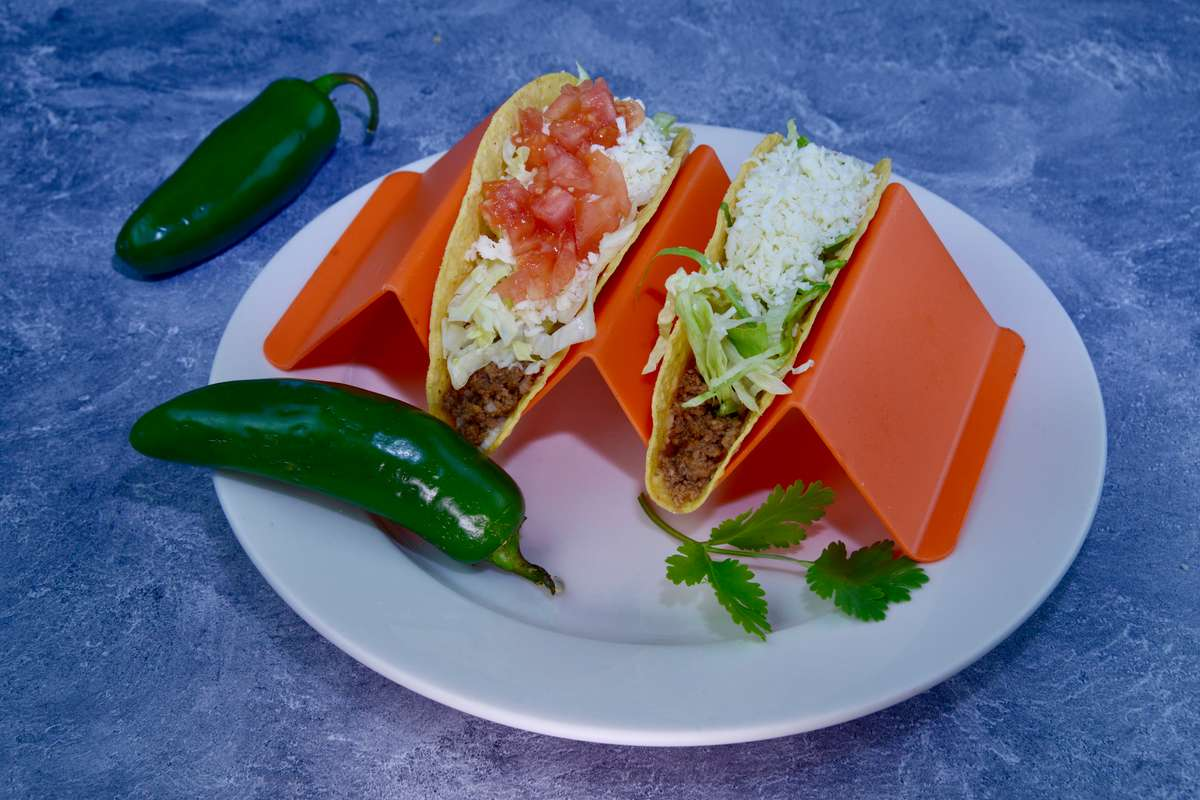 1. One crispy taco, Rice & Beans