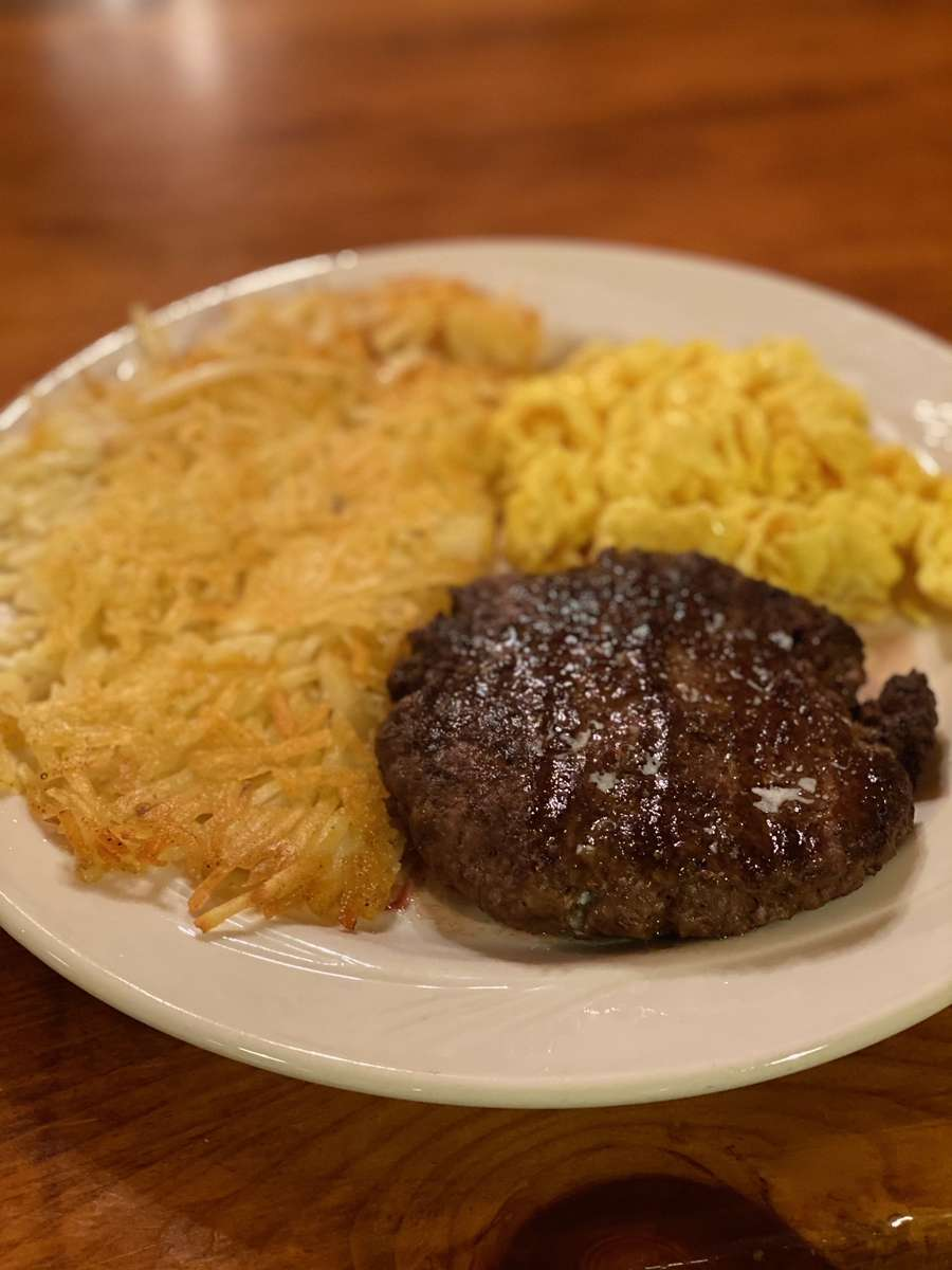Ground Beef Patty and Eggs