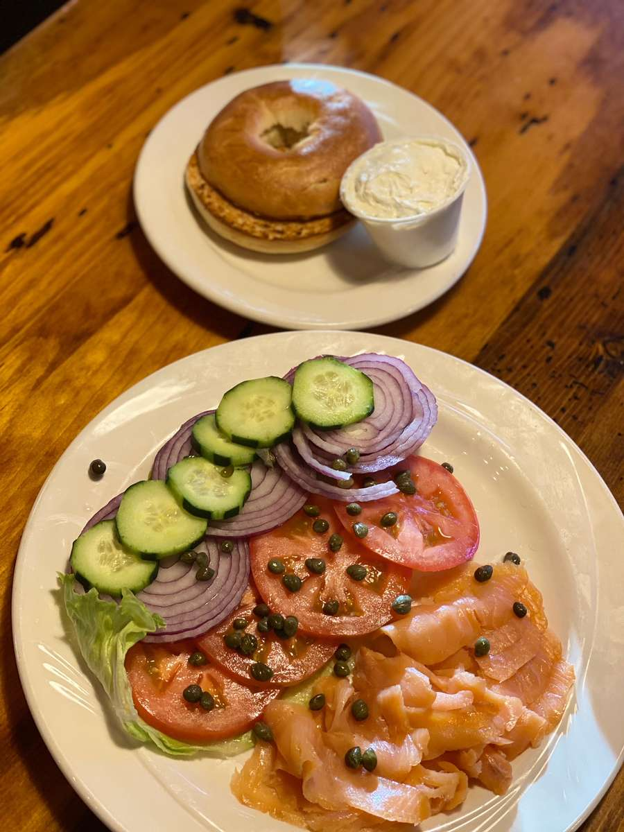 Bagels, Lox and Cream Cheese
