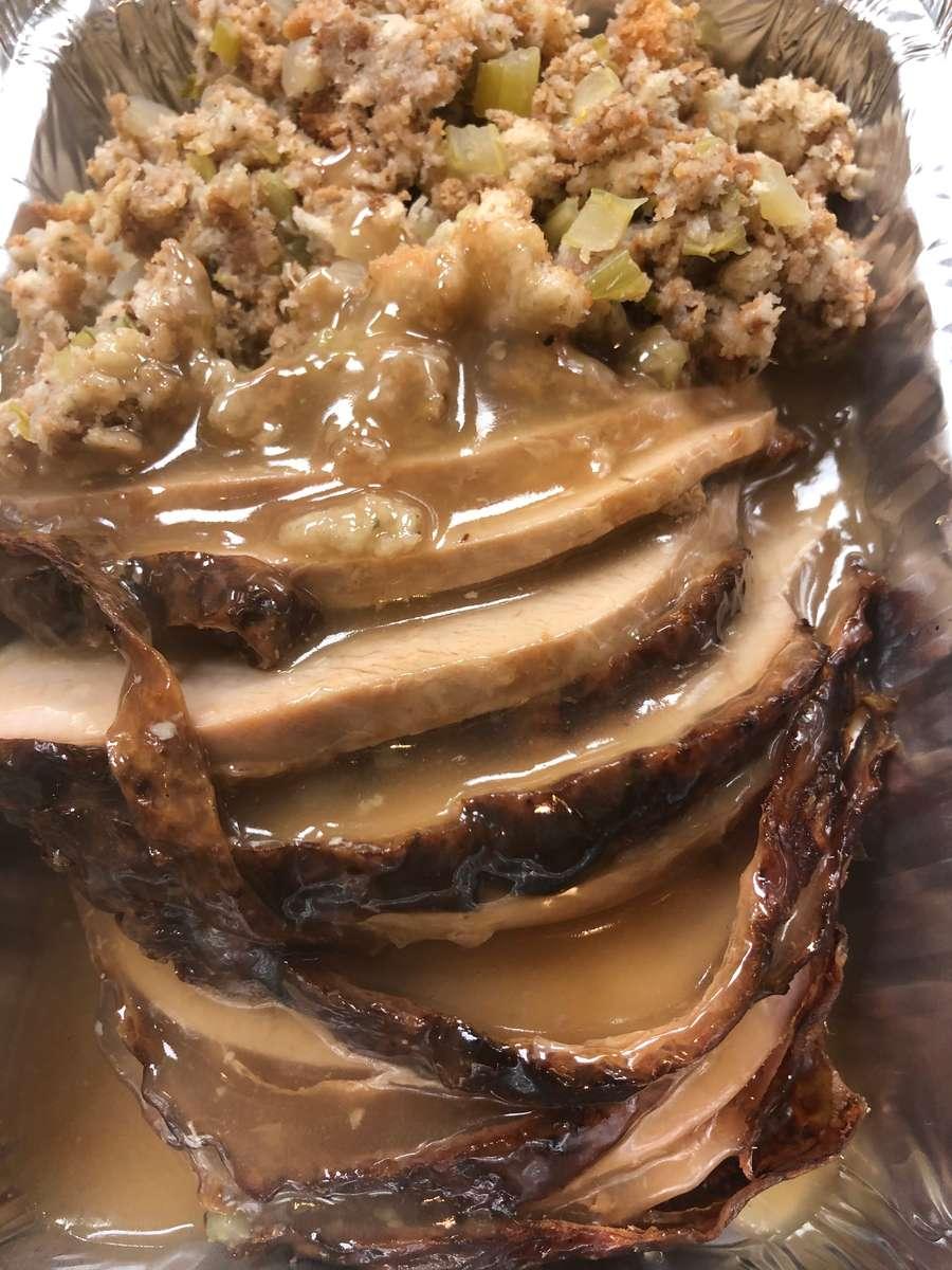 Roast Turkey Dinner Stuffing and Gravy