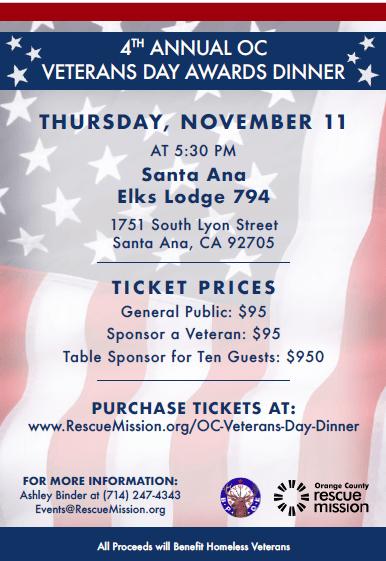 Veterans Day Awards Dinner