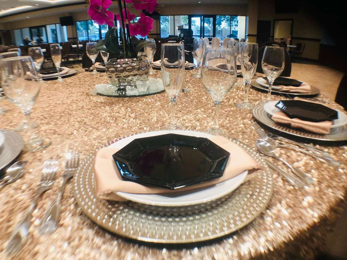 gold dining table