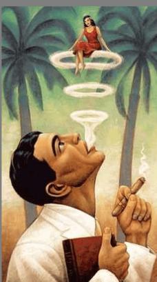 cigars smoker puff of smoke