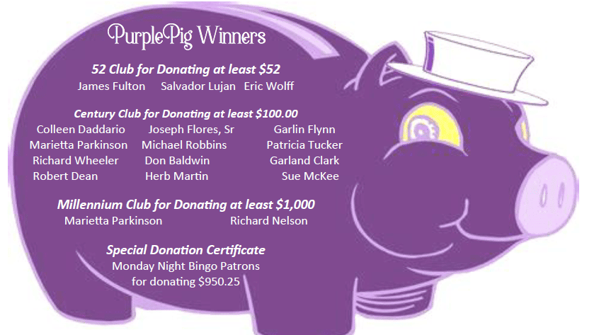 Purple Pig winners