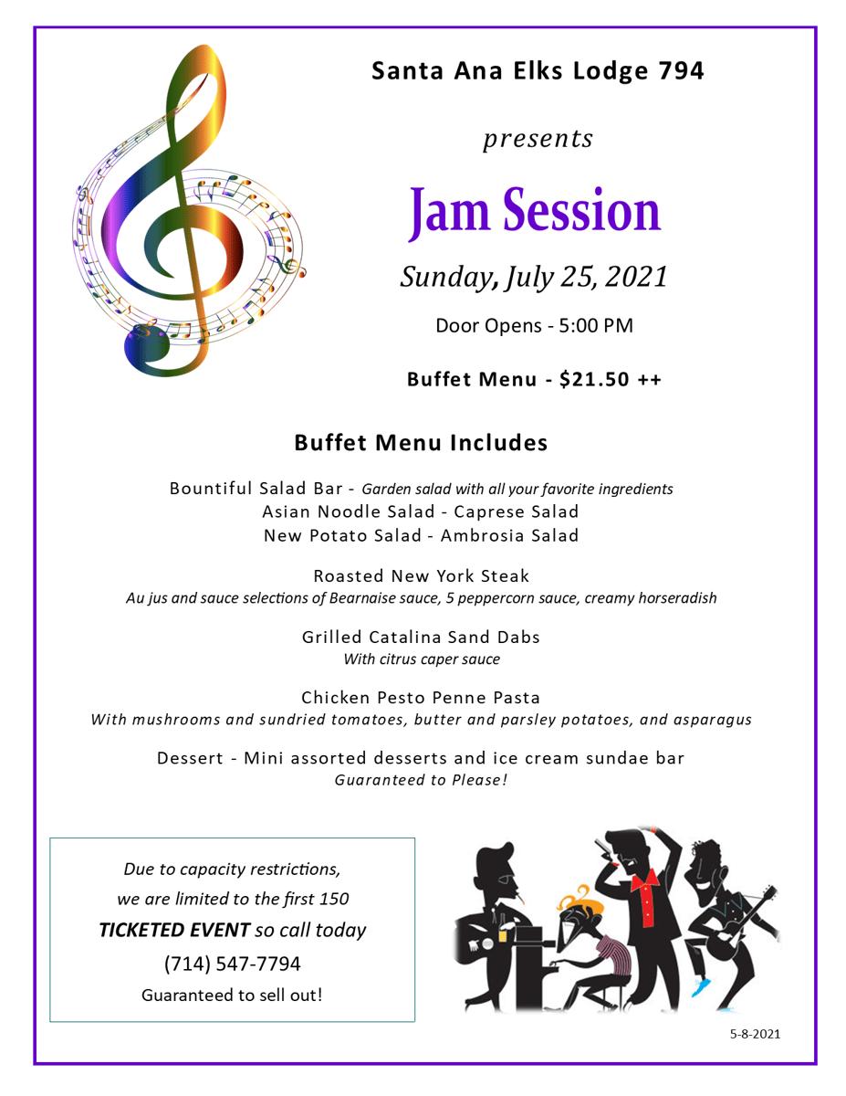 jam session menu
