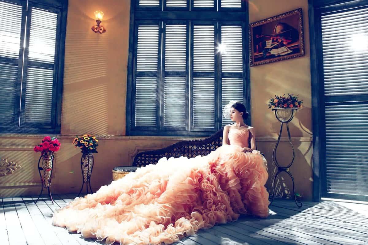 girl in quinceanera dress