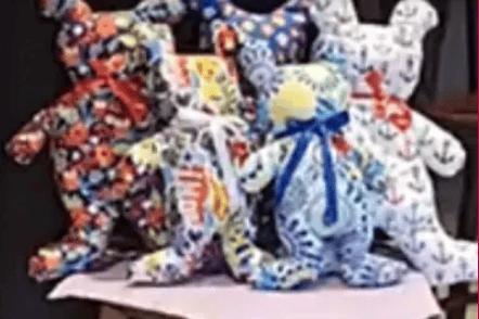 teddy bears made by SA ELks