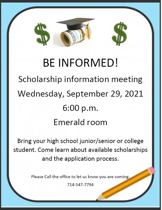 scholarship meeting