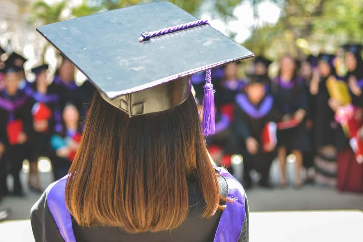 purple grad cap