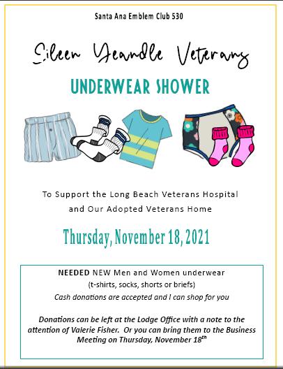 Eileen Yeandle Veterans Underwear Shower