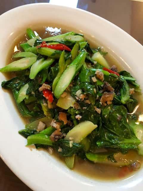 Chinese Broccoli And Salted Fish (Kana Plakem)